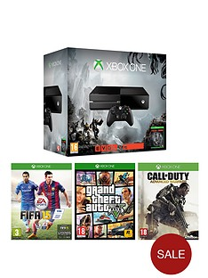 xbox-one-console-with-evolve-fifa-15-call-of-duty-advanced-warfare-gta-5-and-optional-12-months-xbox-live-and-extra-controller