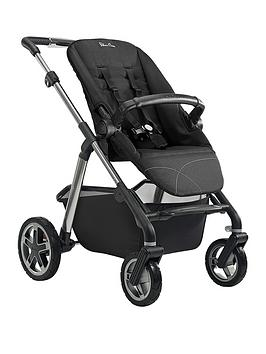 silver-cross-pioneer-pushchair-chassis-seat-unit-and-carrycot-graphite