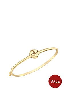 love-gold-9-carat-yellow-gold-knot-hinged-bangle