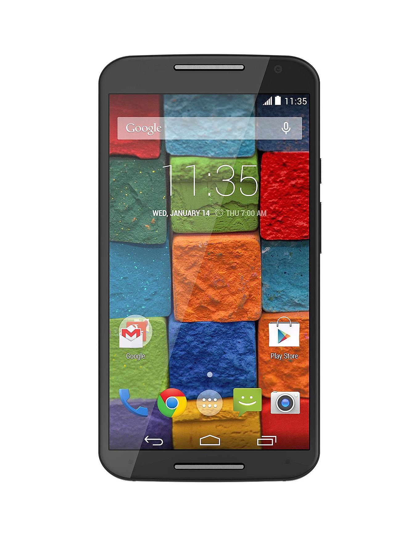 Moto X 1 Black Leather Smartphone Black