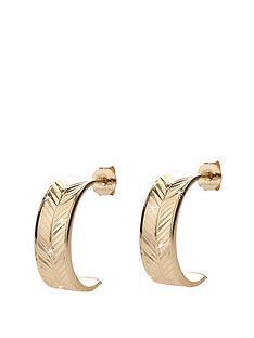 love-gold-9-carat-yellow-gold-diamond-cut-wedding-band-earrings