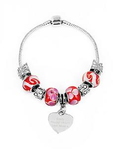 personalised-silver-tone-cherry-red-charm-bracelet
