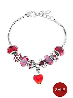 silver-plated-beaded-red-charm-bracelet