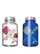 Body Perfect Colon Cleanse Detox and Raspberry Ketones (60 Capsules of Each)