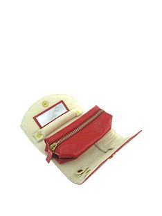 red-mock-croc-faux-leather-jewellery-roll-with-interior-compartments