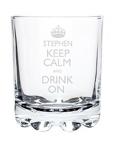 personalised-keep-calm-and-drink-on-whisky-glass