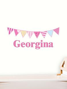 personalised-bunting-wall-sticker