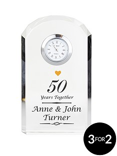 personalised-anniversary-crystal-clock