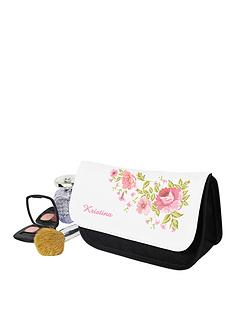 personalised-floral-cosmetics-bag