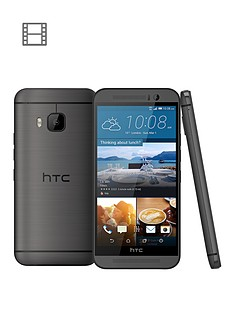 htc-htcone-m9-32gb-grey-with-htc-one-m9-dot-view-ice-case-in-turquoise