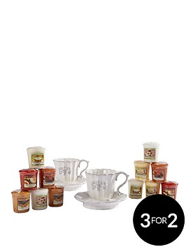 yankee-candle-2-x-teacup-votive-holders-and-12-mixed-votives