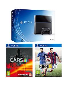 playstation-4-ps4-500gb-with-project-cars-fifa-15-plus-optional-12-months-ps-plus-card-and-extra-dualshock-4-controller