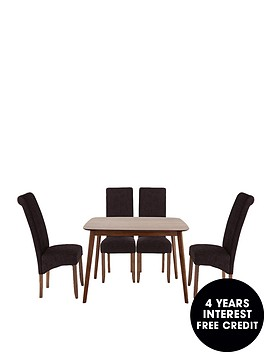 charles-120-cm-dining-table-4-brook-plain-fabric-chairs