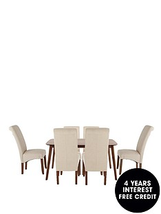 charles-150-cm-dining-table-6-plain-fabric-brook-chairs
