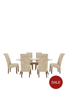 knox-dining-table-plus-6-brook-floral-fabric-chairs