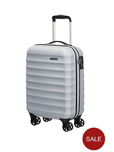 american-tourister-palm-valley-spinner-55-cm-cabin-case-metallic-silver