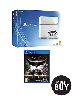 playstation-4-500gb-white-console-batman-arkham-knight-free-drivecub-the-last-of-us-remastered
