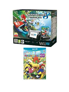 nintendo-wii-u-mario-kart-8-hard-bundle-with-mario-party-10-black-wii-u-controller-and-wii-u-wheel