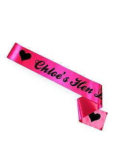 personalised-hen-party-sash