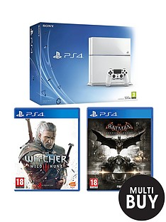 playstation-4-500gb-white-console-with-batman-arkham-knight-and-the-witcher-3-wild-hunt