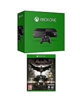 Console (No Kinect) with Batman: Arkham Knight and Optional Batman Headset or 12 Months Xbox Live