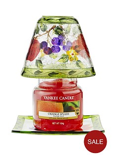 yankee-candle-classic-small-jar-orange-splash-with-small-orchard-crackle-shade-and-tray