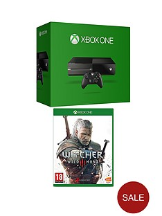 xbox-one-console-no-kinect-with-the-witcher-3-and-optional-extra-official-controller-and-12-months-xbox-live