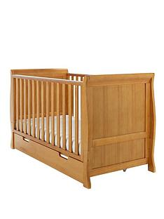 obaby-lincoln-sleigh-cot-bed-free-sprung-mattress