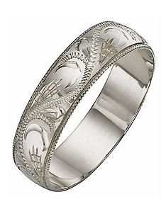 love-gold-9-carat-white-gold-hand-engraved-5mm-d-shaped-wedding-band