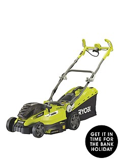 ryobi-rlm18c34h25-one-36-volt-hybrid-lawnmower-with-2-x-one-batteries-and-charger