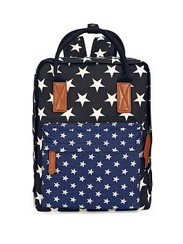 printed-floral-backpack-blue-star