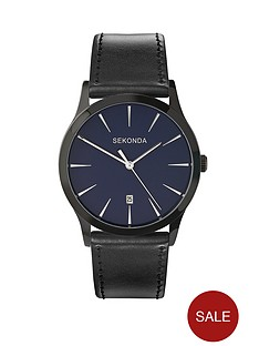 sekonda-blue-dial-black-strap-mens-watch