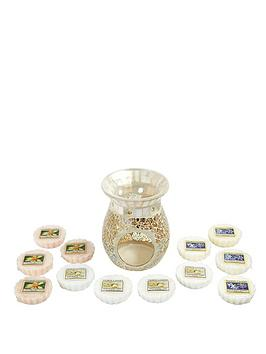 yankee-candle-you-melt-my-heart-wax-melt-and-warmer-set-12-classic-wax-melts-with-gold-and-pearl-crackle-melt-warmer