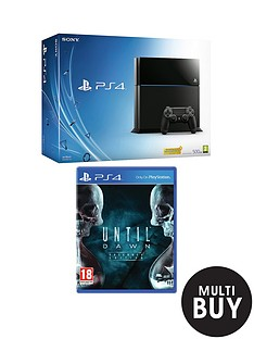 playstation-4-500gb-console-with-until-dawn-and-optional-dual-shock-4-controller-or-12-months-playstation-plus