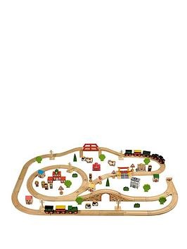 Tidlo 100Piece Wooden Train Set