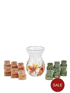 yankee-candle-fiery-autumn-crackle-melt-warmer-with-12-premium-jar-wax-melts