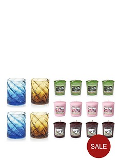 yankee-candle-4-paradise-votive-holders-with-12-classic-wax-melts