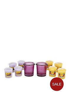 yankee-candle-2-plum-votive-holders-with-8-classic-votives