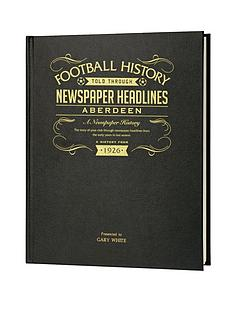 personalised-football-newspaper-a3-book-scottish-teams-embossed-black-leather-cover