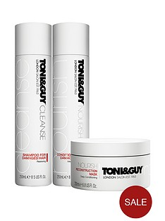 toniguy-cleanse-and-nourish-damaged-trio
