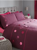Applique Circles Duvet and Pillowcase Set