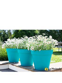 la-hacienda-set-of-3-x-40cm-eco-friendly-capri-pots-turquiose