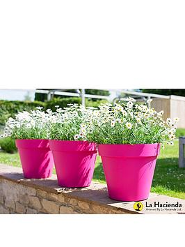 la-hacienda-set-of-3-x-40cm-eco-friendly-capri-pots-fuchsia