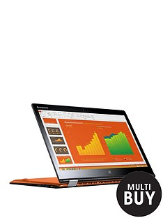 lenovo-yoga-3-14-intelreg-coretrade-i5-processor-4gb-ram-128gb-ssd-storage-14-inch-touchscreen-2-in-1-laptop-with-optional-with-microsoft-office-365-personal-orange