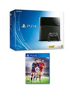 playstation-4-500gb-black-console-with-fifa-16-and-optional-12-months-playstation-plus-or-extra-dualshock-controller