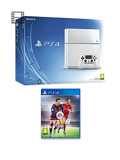 playstation-4-500gb-white-console-with-fifa-16-with-optional-12-months-playstation-plus-or-extra-dualshock-controller
