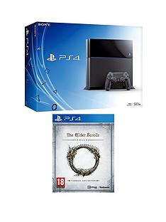 playstation-4-500gb-console-the-elder-scrolls-online-free-driveclub-god-of-war-3-remastered