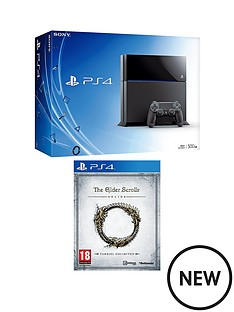 playstation-4-500gb-console-with-elder-scrolls-online-and-optional-12-months-psn-and-hc4-gaming-headset