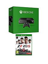 Console (No Kinect) with F1 2015 and Optional Official Licensed Hori Racing Wheel