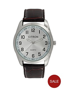 silver-dial-brown-strap-mens-watch